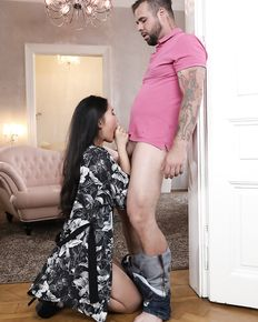 Sexy asian chick Katana enjoys sucking and fucking - porn pics
