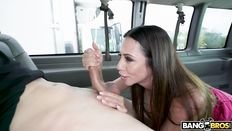 Busty mom Ariella Ferrera in Bangbus action - free sex pics