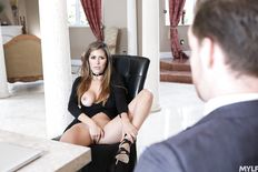Alexxa Vega rocks hard dick with hot MILF pussy
