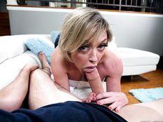 Horny MILF Dee Williams serving a big hard cock