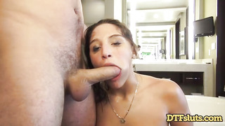 Abella Danger is getting humped in a motel bedroom and hoping a monstrous facial cumshot in the end