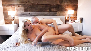 Enticing blond mature, Bianca Fitcougar got her daily portion of drill in a motel apartment
