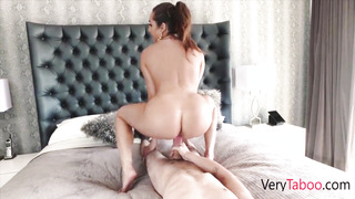 Nubile sonnie gets carried away caressing his SUPER-FUCKING-HOT HUGE-TITTED STEP-MOTHER