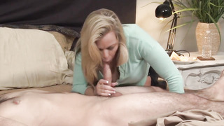 Tatted stud enjoys massive orbs and raw vag and his step- mommy is willing to suggest some