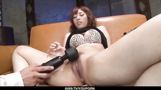 Tiara Ayase torn up with fucktoys and spunked on face