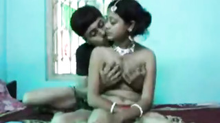 Indian housewife is doing it with her paramour, because her hubby is not at home