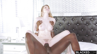 Scorching Ash-Blonde With Massive Congenital Hooters Pulverized By Meaty Ebony Sausage
