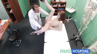FakeHospital Smallish Warm Russian Teenie gets Honeypot Gobbled and Nailed by Physician