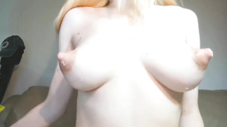 Stroking Yam-Sized Total Breasts. Pointy Nips, Milk Gorged Puny