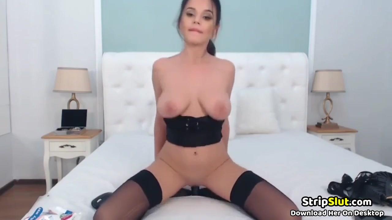 Sexy Latina Rides Dildo