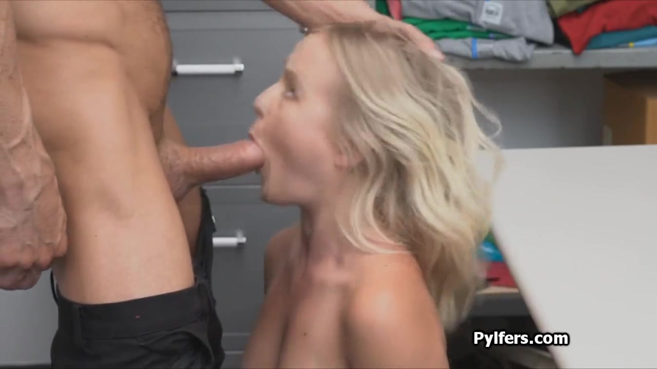 Cute Blonde Teen Swallow
