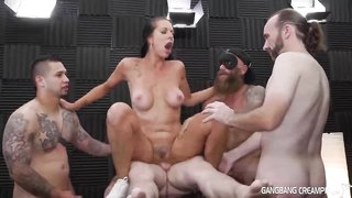 Nasty honey, Texas Patti got down and filthy with many boys until her snatch got creampied