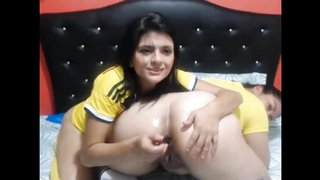 Colombian Girls Seimyx & Cheirloutx In Nice CamShow