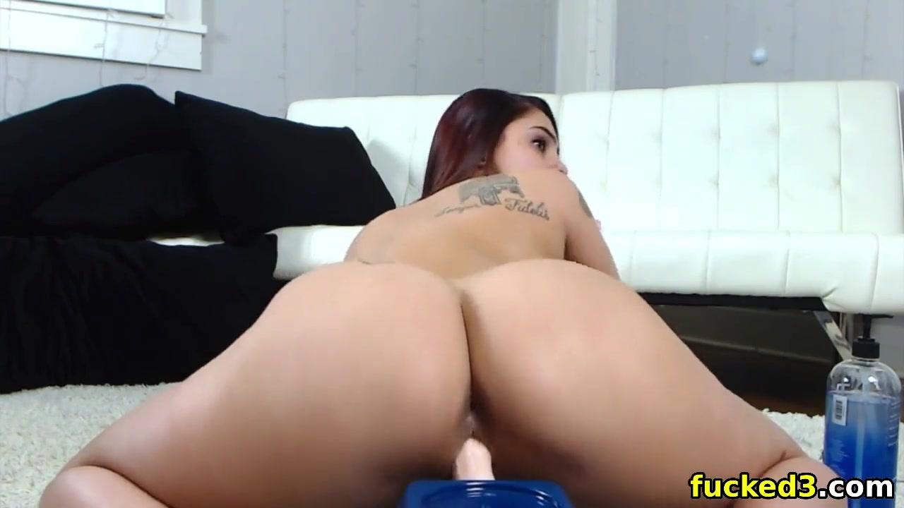 Big Tits Ebony Riding Dildo
